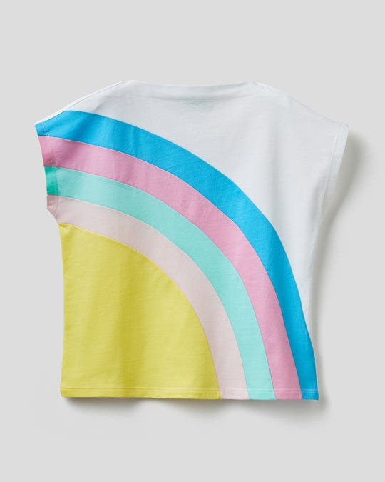 Playera estampada de arcoiris