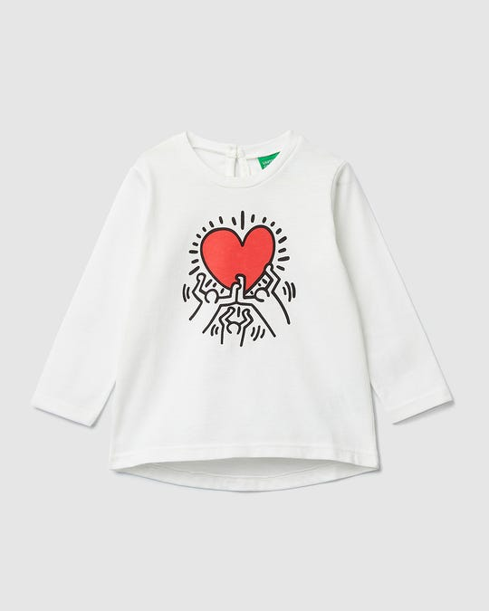 "Playera con estampado de ""Keith Haring"""