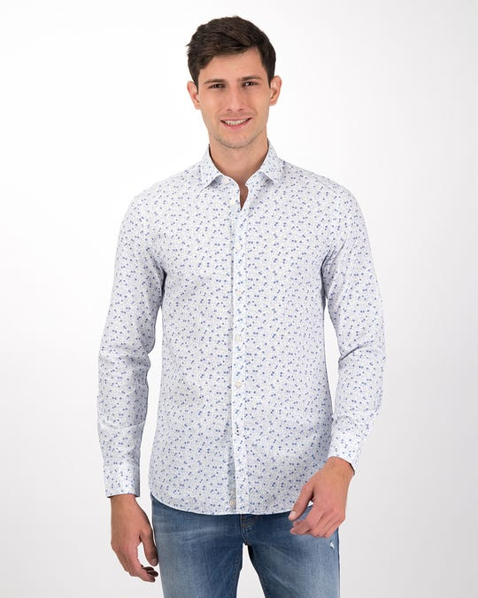 Camisa slim fit estampada