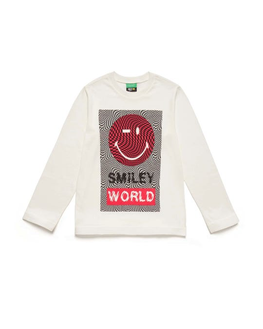 "Camiseta Con Estampado ""Smiley"""